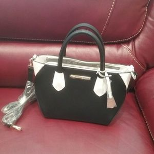 NWT Black & White Satchel w/Adj. Strap Final Price
